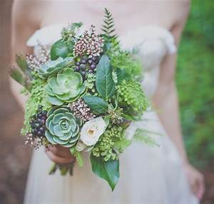 Green bouquet with succulents - Fab Mood Wedding Colours
