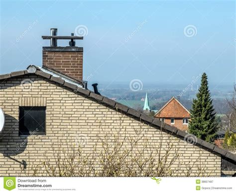 modern chimney house roof with chimney royalty free stock photography image 38657487