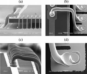 Sem Micrographs Of Forward Loop Wire Bonding On Silicon Carrier   A