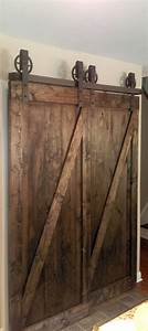 bypass vintage spoked sliding barn door closet hardware With bi pass barn door hardware