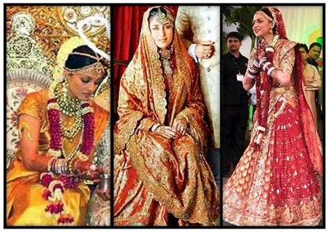 Indian Actresses Wedding Dresses New Trends