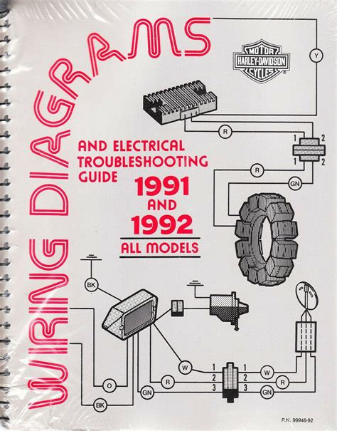 1991 1992 harley wiring diagram schematic electrical troubleshooting manual all ebay