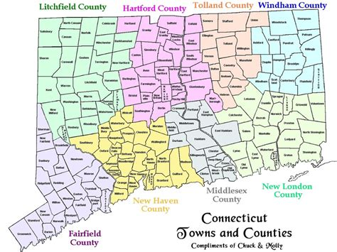 Map Connecticut Coastal Towns