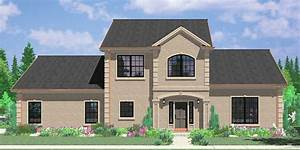 Two Story House Plans, 3 Bedroom House Plans, Master On ...