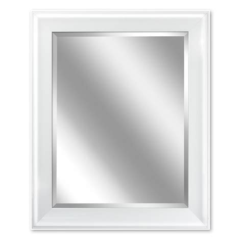 Bathroom Mirrors White Frame by Allen Roth 24 In White Rectangular Bathroom Mirror At