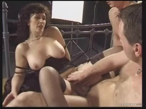 Retro Threesome With Naughty Brunette Milf Alpha Porno