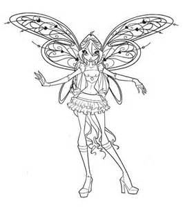 Winx Club Princess Bloom Coloring Pages