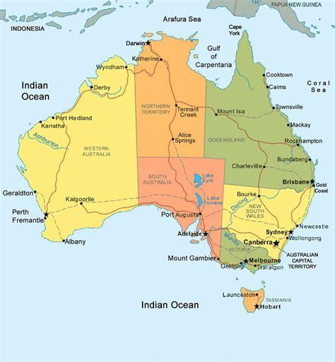 Carte de l'Australie - Différentes cartes sur l'Australie ...