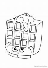Waffle Coloring Pages Sue Shopkins Step Printable Drawing Draw Adults Tutorials sketch template