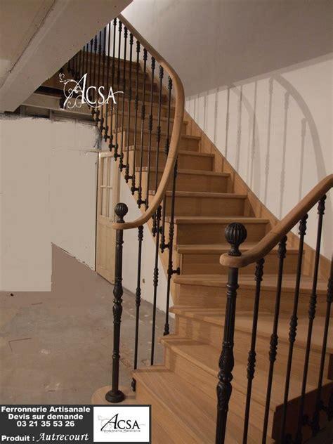re escalier bois et fer forge escalier bois et re fer autrecourt ferronnerie artisanale
