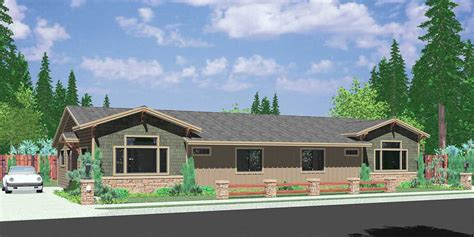 house plans for narrow lots one level duplex house plans corner lot duplex plans