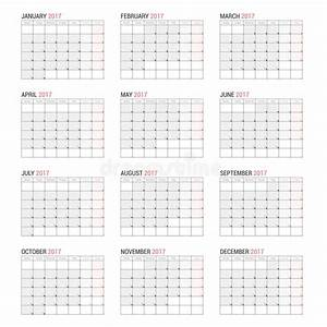 Yearly wall calendar planner template for year stock