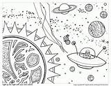Coloring Space Outer Adults Popular sketch template