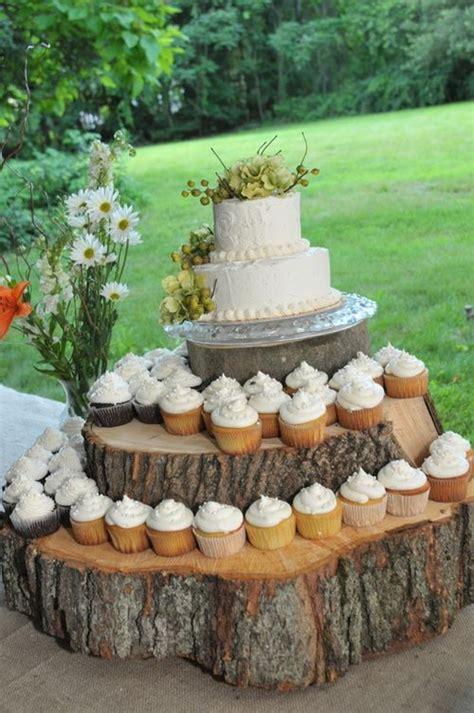 rustic cupcake stands ideas  pinterest