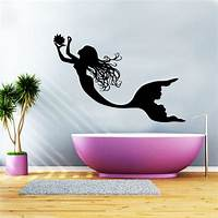 trending mermaid wall decals Mermaid Wall Decal Vinyl Sticker Decals Nymph Girl Tail Sea