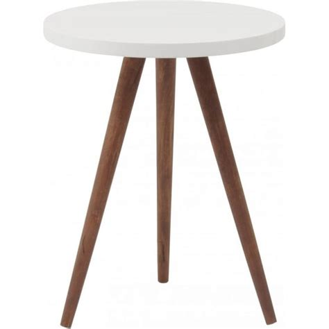 three legged wooden table buy three leg wooden and white side table from fusion living