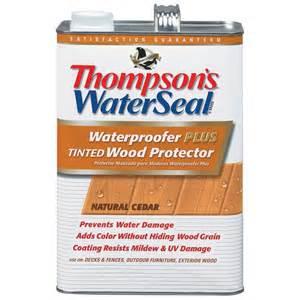 Wood Deck Sealer Waterproofer by Thompson S Waterseal 1 Gal Natural Cedar Waterproofer