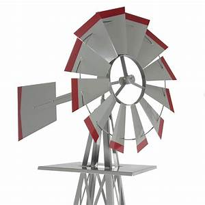 8' Windmill Ornamental Garden Weather Vane Weather