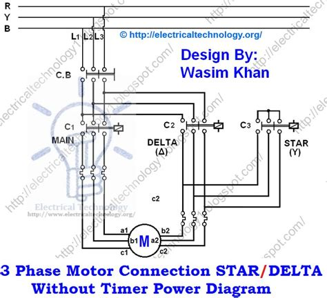 Phase Motor Connection Star Delta Without Timer Power