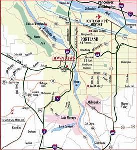 Portland Metro Map - TravelQuaz.Com