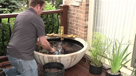 Aquascape Patio Pond by Easy Container Water Feature With Aquascape S Patio Pond