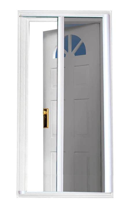 seasonguard white retractable screen door