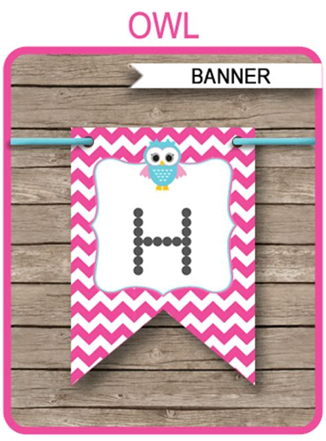 owl birthday banner template birthday banner editable