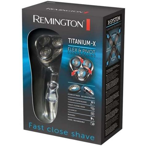 remington titanium flex pivot rotary mens electric shaver