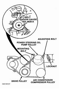 1992 Mercury Capri Serpentine Belt Routing And Timing Belt
