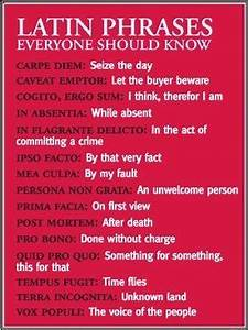Latin Phrases You should add No ne tangere! (Don't touch ...