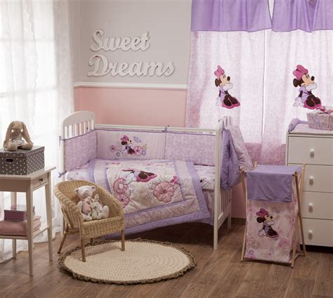 minnie mouse crib set disney minnie mouse butterfly dreams bedding collection 4