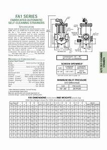 Self Cleaning Strainer Operation Manual Selection Guide
