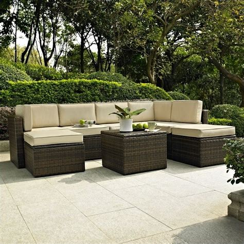 palm harbor 8 outdoor wicker seating set ko70008br