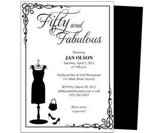 50th Birthday Party Invitations Templates