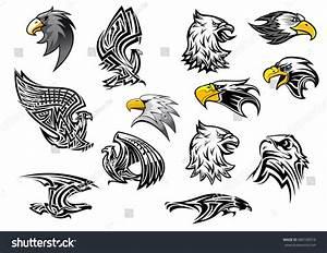 Eagle Hawk Vector Icons Mascot Tattoo Stock Vector ...