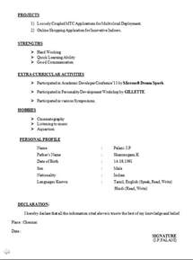 php fresher resume doc resume format doc for freshers