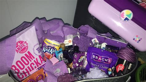 purple care package    images birthday diy