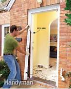Installing New Exterior Door In Existing Frame by How To Replace An Exterior Door The Family Handyman