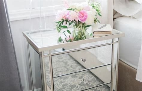 Mirrored Nightstands Cheap by Single Bedroom Nightstand One Bedside Table Nightstands