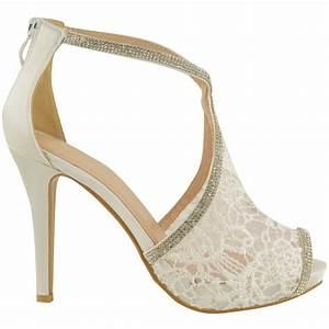 Weiße Schuhe Damen Hochzeit : damen hochzeit schuhe mit hohem absatz spitze strass braut zehenfreie sandale ebay ~ Eleganceandgraceweddings.com Haus und Dekorationen