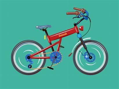 Animation Bicycle Bike Dribbble Photoshop Tools Adobe