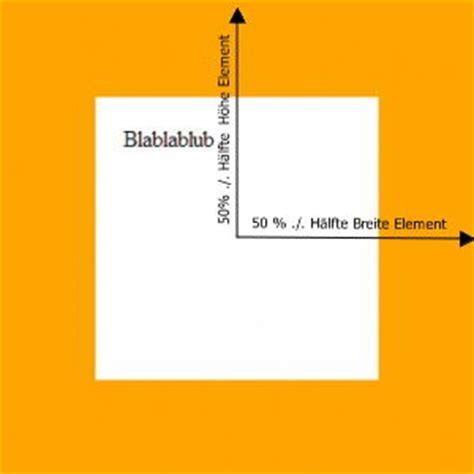 css basics ein element horizontal und vertikal