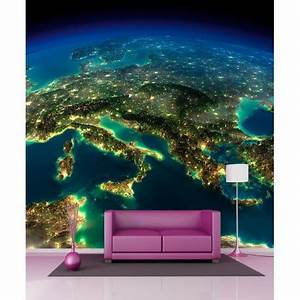 Papier Peint Geant : papier peint g ant vue sur la terre 250x250cm stickers ~ Premium-room.com Idées de Décoration