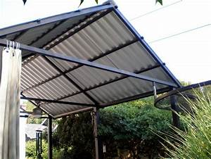 Metal roof patio cover designs home design ideas for How to build a patio cover with a corrugated metal roof