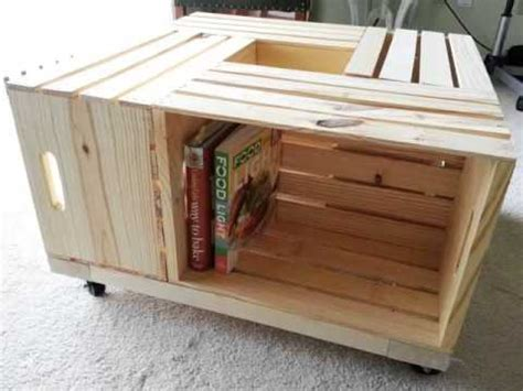 Base Per Lada Da Tavolo by Diy Crate Coffee Table Pictures Of Pallet Furniture Diy