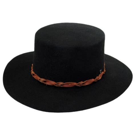 brixton hats bridger wool felt boater hat novelty hats
