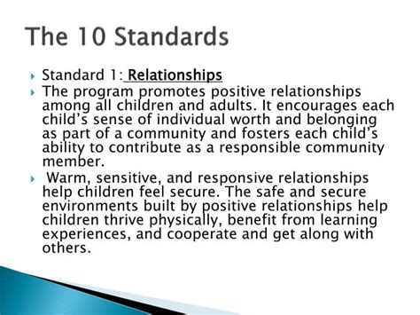 ppt what does naeyc accreditation to me powerpoint 347 | the 10 standards n