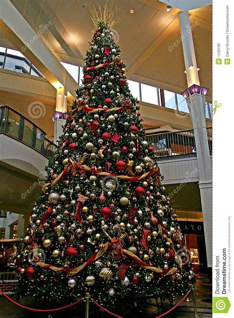 mall christmas tree stock photo image of gift commerce