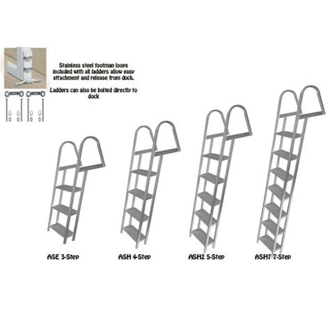 Boat Dock Ladder Parts by Marine Dock Ladders J Ladders And Replacement Hardware