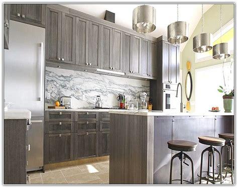 grey stained kitchen cabinets love  kitchen